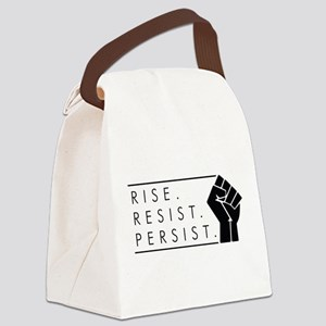 Rise. Resist. Persist. Canvas Lunch Bag
