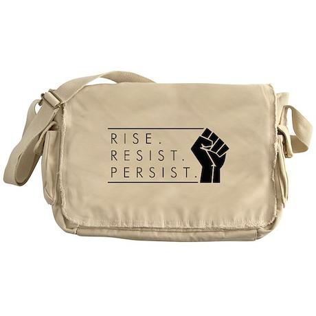 Rise. Resist. Persist. Messenger Bag