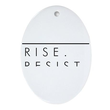 Rise. Resist. Persist. Oval Ornament