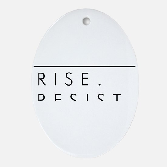 Rise. Resist. Persist. Oval Ornament