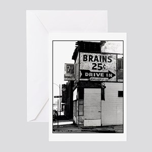 Brains, 25 cents Greeting Cards (Pk of 10)