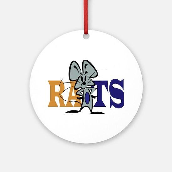 RATS! Round Ornament