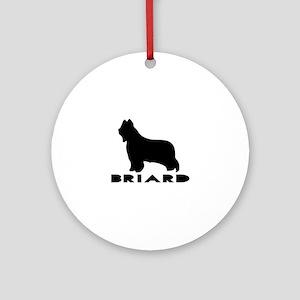 Briard Dog Designs Round Ornament