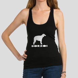 Borzoi Dog Designs Racerback Tank Top