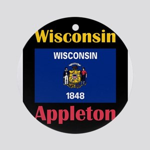 Appleton Wisconsin Round Ornament