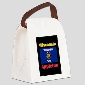 Appleton Wisconsin Canvas Lunch Bag