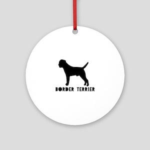 Border Terrier Dog Designs Round Ornament