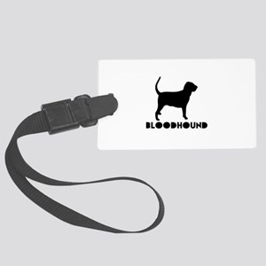 Bloodhound Dog Designs Large Luggage Tag