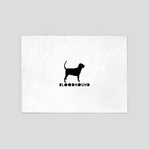 Bloodhound Dog Designs 5'x7'Area Rug