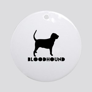 Bloodhound Dog Designs Round Ornament