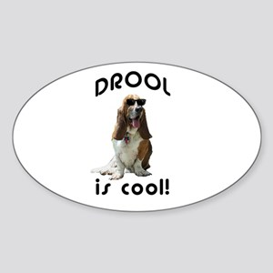 Drool is cool! Oval Sticker