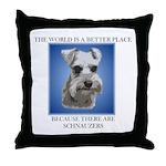 World is a Better (blue)- Throw Pillow