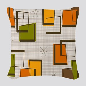 Mid-Century Hourglass Woven Throw Pillow