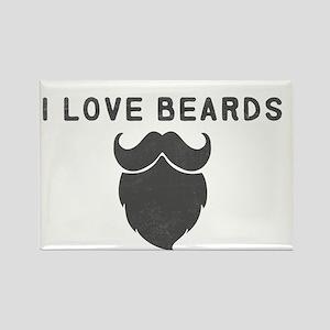 I Love Beards Magnets