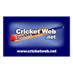 Cricket Web Rectangular Sticker
