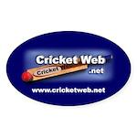 Cricket Web Oval Sticker