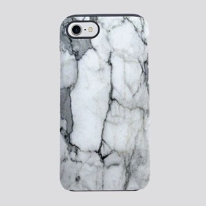 abstract chic white marble iPhone 8/7 Tough Case