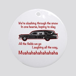 Jingle Hells Hearse Round Ornament