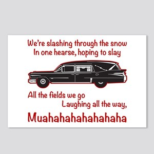 Jingle Hells Hearse Postcards (Package of 8)