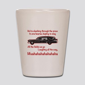 Jingle Hells Hearse Shot Glass
