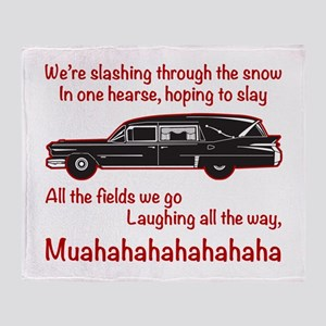 Jingle Hells Hearse Throw Blanket