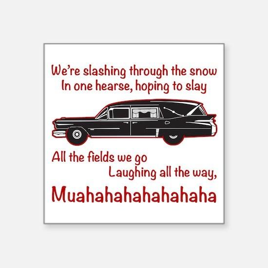 Jingle Hells Hearse Sticker
