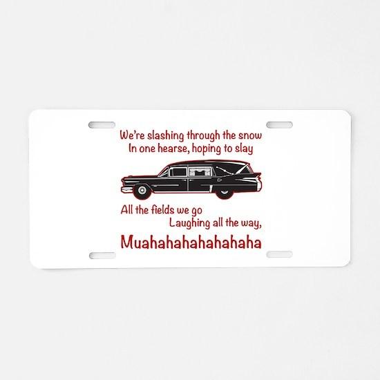 Jingle Hells Hearse Aluminum License Plate