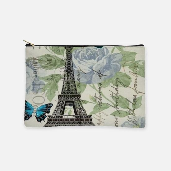 floral paris vintage eiffel tower Makeup Bag