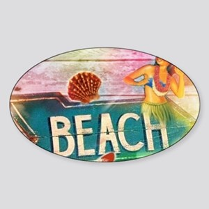 sunrise beach surfer Sticker