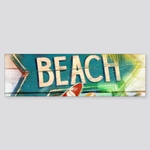 seashells hawaii beach surfer Bumper Sticker