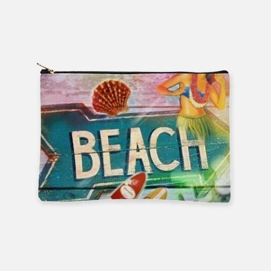 hawaii aloha beach surfer Makeup Bag