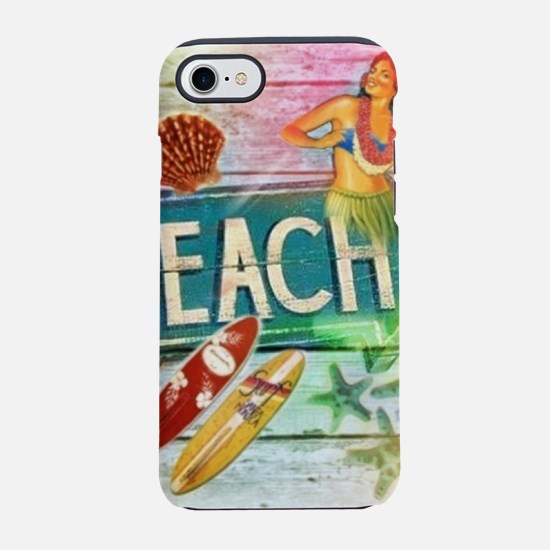hawaii aloha beach surfer iPhone 8/7 Tough Case