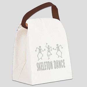 Skeleton Dance Canvas Lunch Bag