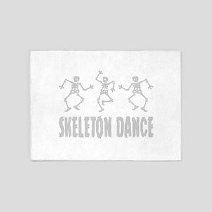 Skeleton Dance 5'x7'Area Rug