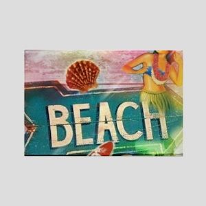 sunrise beach surfer Magnets