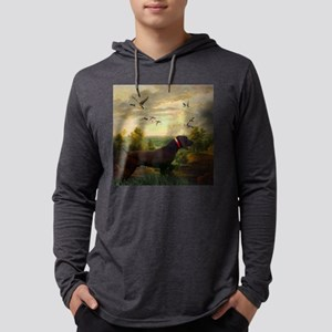 vintage hunting pointer dog Long Sleeve T-Shirt