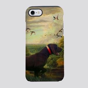 outdoors hunting pointer dog iPhone 8/7 Tough Case