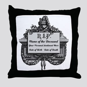 R.I.P. Personalized Throw Pillow