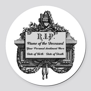 R.I.P. Personalized Round Car Magnet