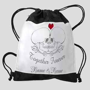 Together Forever Personalized Drawstring Bag