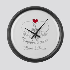 Together Forever Personalized Large Wall Clock
