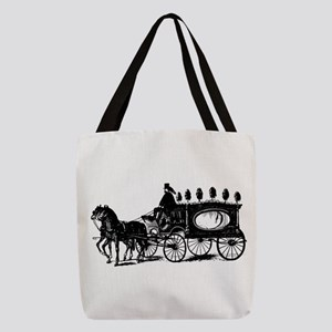 Black Victorian Hearse Polyester Tote Bag
