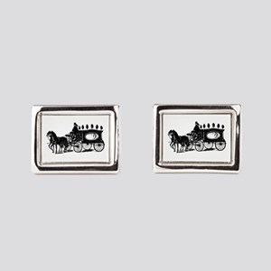 Black Victorian Hearse Cufflinks