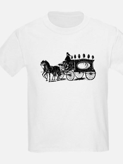 Black Victorian Hearse T-Shirt