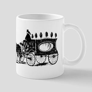 Black Victorian Hearse Mug