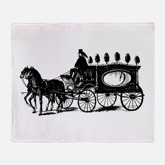 Black Victorian Hearse Throw Blanket