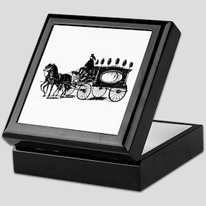 Black Victorian Hearse Keepsake Box
