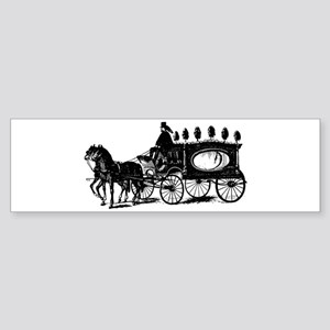 Black Victorian Hearse Sticker (Bumper)