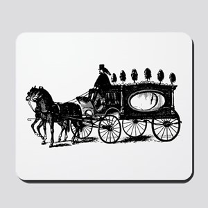 Black Victorian Hearse Mousepad