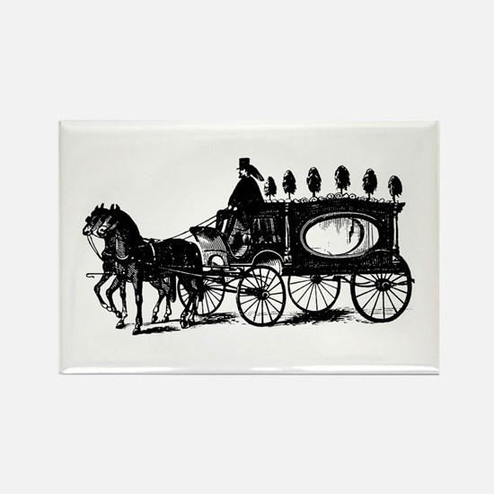 Black Victorian Hearse Rectangle Magnet